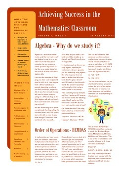 Achieving Success in the Mathematics Classroom - Introduci