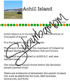 Achill Island - Deserted Village - Mayo Ireland- History -