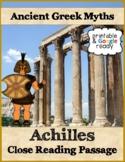 Achilles Greek Myth Close Reading Passage