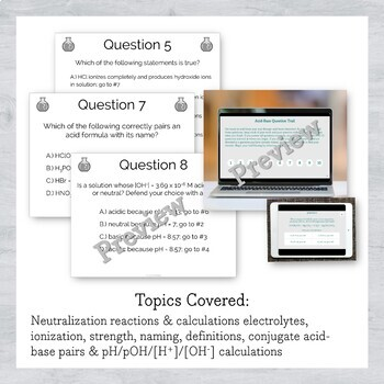 Acid-Base Chemistry Active Review Question Trail