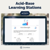 Acid Base Chemistry Learning Stations First Year or AP Pri