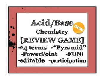 Acid Base Review Game [editable and FUN!]