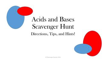 Acid Base Scavenger Hunt Power Point and Student Sheet