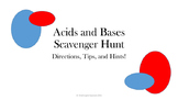 Acid Base Scavenger Hunt Power Point and Student Sheet