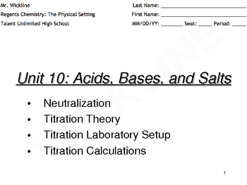 Titrations_F - Titrations Practice Worksheet 1 What is the ...