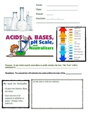 Acid, Base and pH inquiry lab with integration and phenome