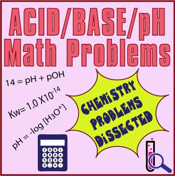 Acid/Base/pH Problems Worksheet ~VARIETY OF PROBLEMS + KEY~  Chemistry