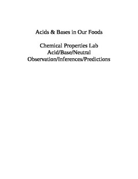 Acid and Bases in our Foods