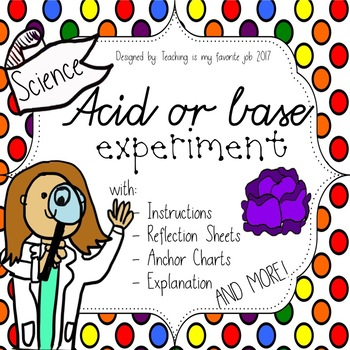 Acid or base Experiment, Anchor Charts, Explanation, Reflection Sheet