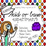 Acid or base Experiment, Anchor Charts, Explanation, Refle