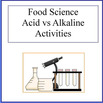 Acid Vs Alkaline Food Activity Food Science Worksheets Kids In The