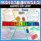 Acids and Bases Unit of Nonfiction Readings Task Cards Hands on Activities