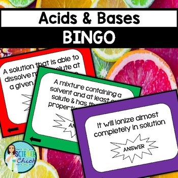 Acids & Bases Bingo Game