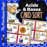 Acids and Bases Card Sort, Vocabulary Activity, Word Wall