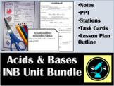 Acids & Bases Interactive Notebook (INB) Bundle (w/ task cards)