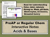 Acids & Bases Interactive Notes