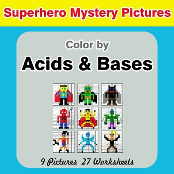 Acids & Bases - Mystery Pictures - Superhero