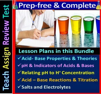Acids, Bases & Salts - Engaging & Easy-to-learn Guided  notes for HS Chemistry