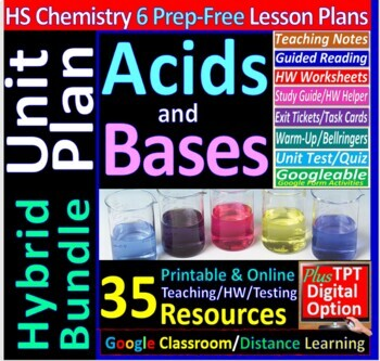 acids bases and salts topic bundle 7 essential skills guided lessons rh teacherspayteachers com chapter 19 acids bases and salts guided reading and study workbook answers Chemistry Acids and Bases