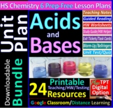 Acids, Bases & Salts - Organized & Engaging Worksheets for High School Chemistry
