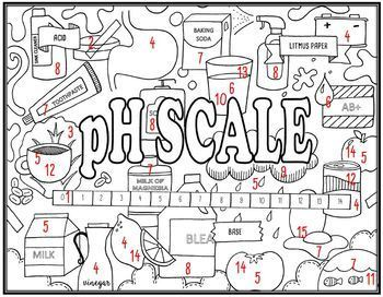 pH Scale (Acids & Bases) Seek and Find Science Doodle Page