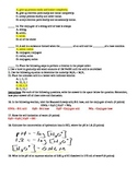 Acids, Bases, and Salts Chemistry Test Key