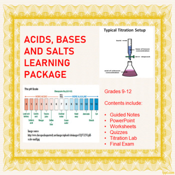 Acids, Bases and Salts Learning Package