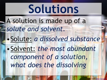Acids Bases And Solutions Set Of 5 Power Points By Msrazz Chemclass