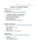 Acids, Bases, and Solutions Webquest