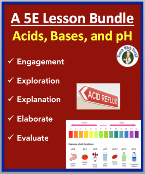 Acids, Bases, and pH - Complete 5E Lesson Bundle