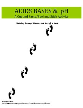 Acids Bases and pH Cut & Paste/Peel & Stick Activity