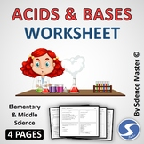 Acids and Bases Worksheet One in Many Ways
