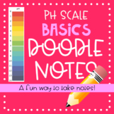 Acids & Bases - pH Scale Basics Doodle Notes