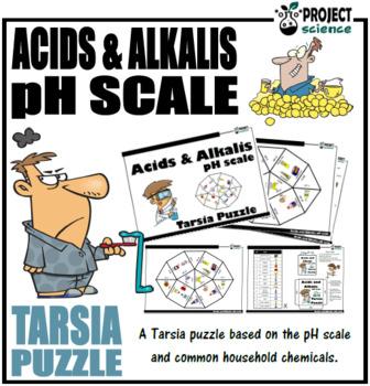 Acids and Alkalis: pH scale Tarsia Puzzle