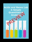 Acids and Bases A Simple Quantitative Analysis