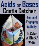 Acids and Bases Activity (Cootie Catcher Foldable Review Game)