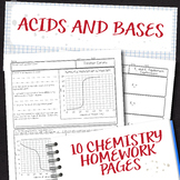 Acids and Bases Chemistry Homework Pages