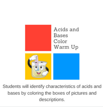 Acids and Bases Color Warm Up