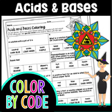 ACIDS AND BASES SCIENCE COLOR BY NUMBER, QUIZ
