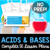 Acids and Bases Complete 5E Lesson Plan