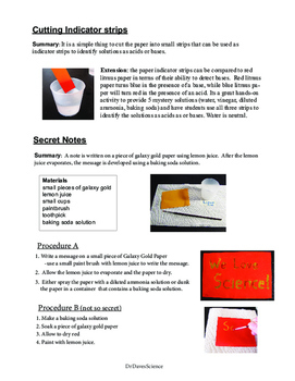 Acids and Bases: Galaxy Gold Activities