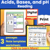 Acids and Bases Guided Reading | Close Reading | Expository text