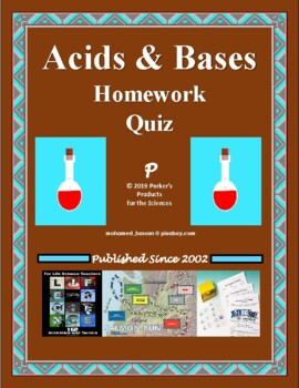 Acids And Bases Crossword Worksheets & Teaching Resources | TpT