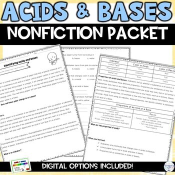 Acids, Bases, and the pH Scale Reading Activity