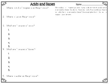 Acids and Bases Leveled Texts for Differentiated Reading