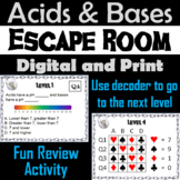 Acids and Bases Activity: Physical Science Escape Room Chemistry