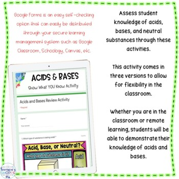 Acids and Bases Printable and Digital BOOM Learning Task Cards