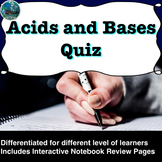 Acids and Bases Quiz