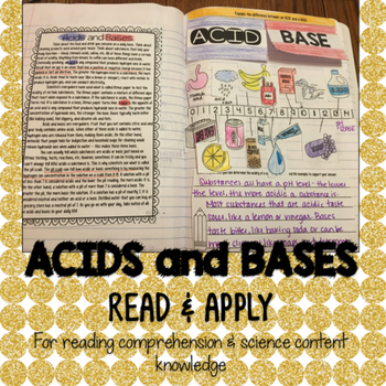 Acids and Bases Reading Comprehension Interactive Notebook