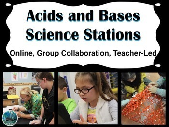Acids and Bases Science Stations (online, group collaboration, teacher-led)